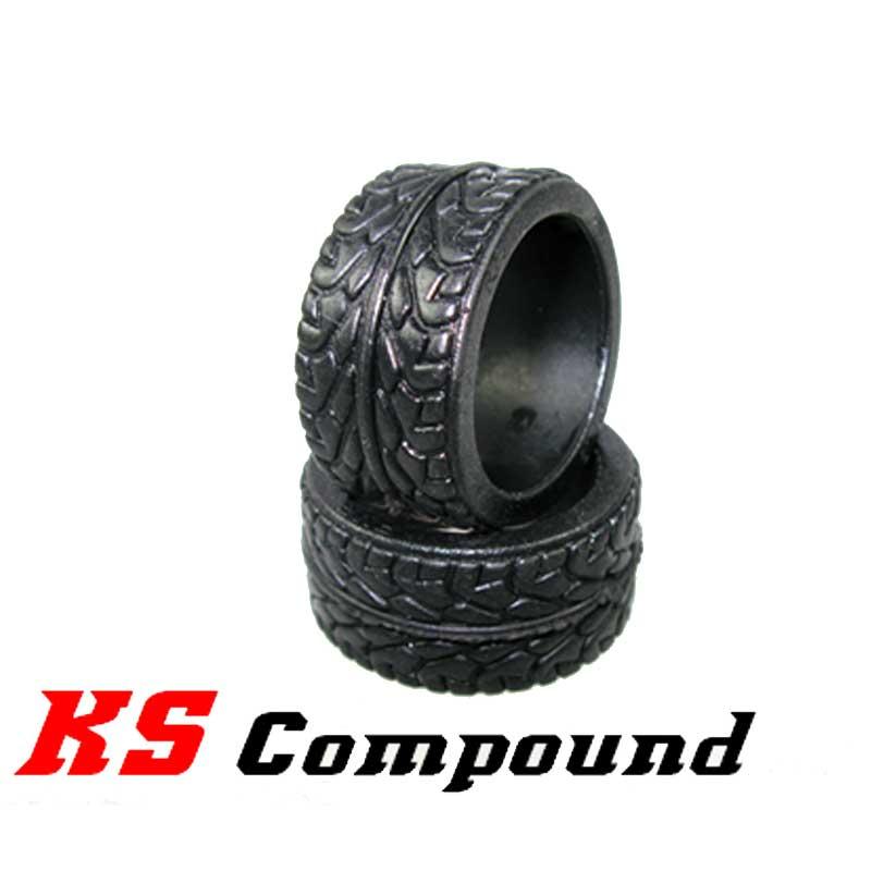 Pneu Radial arrière en gomme KS Compound Super Soft pour RCP Track (1 Paire)