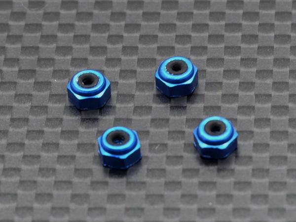 RC AURORA Ecrous de roue spécial Mini-Z Bleu, MZ-006-B