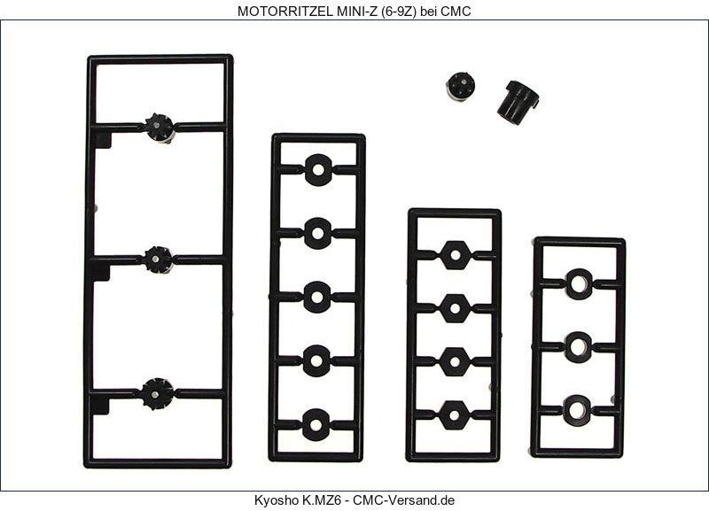 KYOSHO PIGNONS MOTEUR (GRAPPE 6-7-8-9 DENTS), MZ6