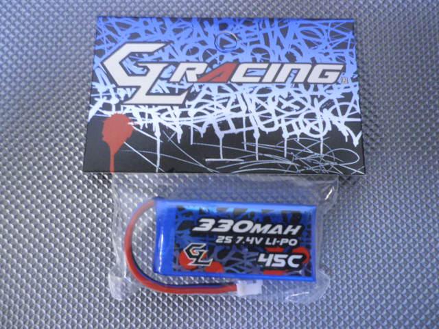 GL RACING Accus Lipo 2s-330mAh, GBY002