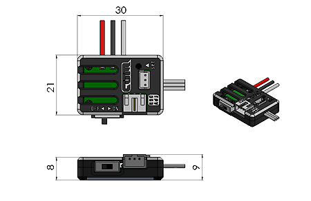 ATOMIC Controleur Brushless Micro, AMZ-OP029