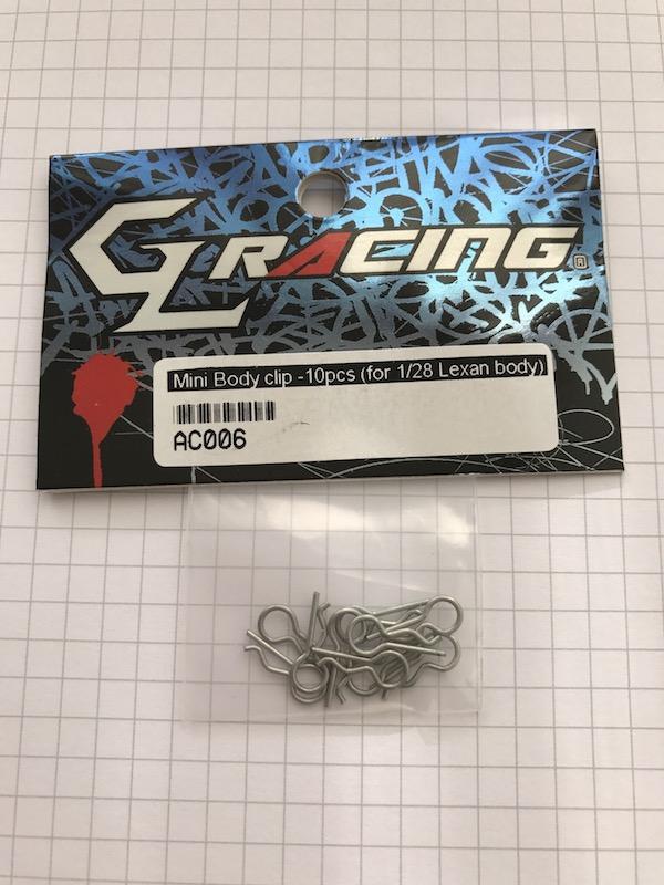 GL RACING Clip de carrosserie (10) GLA, AC006