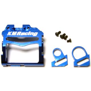 KM Racing Support Moteur en alu bleu MM, KMMR03-02
