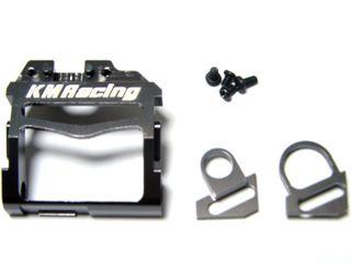 KM Racing Support Moteur en alu gris MM, KMMR03-02G