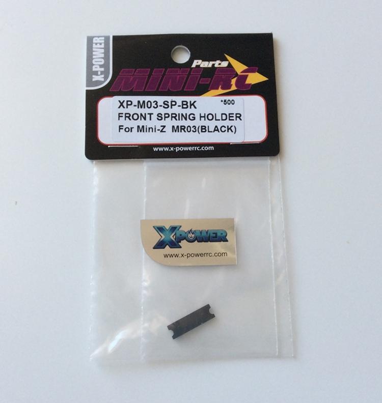 XPOWER Support de ressort Avant Noir Mini Z Mr03, XP-M03-SP-BK
