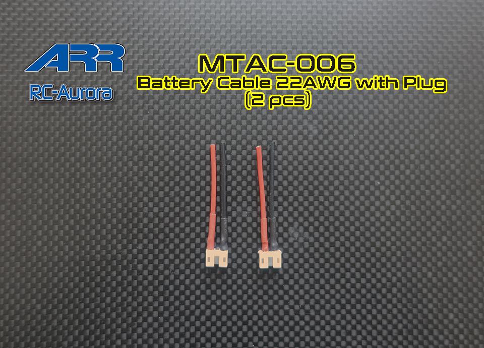 RC AURORA Cables d\'alimentation (2), MTAC-006
