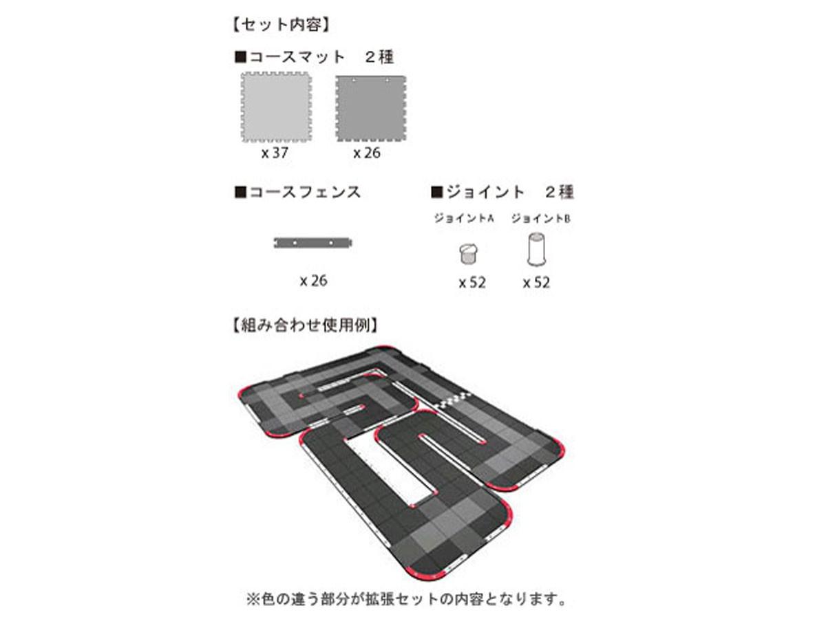 Kyosho Mini-Z Grand Prix Circuit 50 EXTENSION (60pcs), 87051-01
