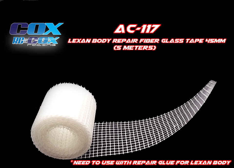 RC AURORA Fibre de réparation carrosserie Lexan, AC-117