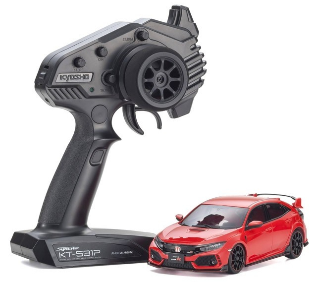 KYOSHO MINI-Z FWD Honda CIVIC Type R Flame Red Readyset RTR, 32424R