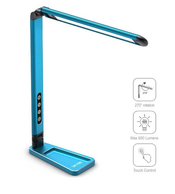 ROBITRONIC Lampe de stand Bleu à LED, SK600089BL