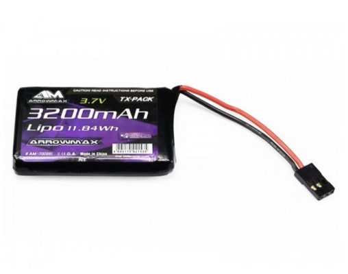 ARROWMAX Batterie Lipo 1S 3200mAh 3.7v SANWA MT44, AM-700991