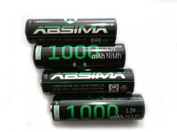 ABSIMA AA 4 PIECES 1000mAh, 2263