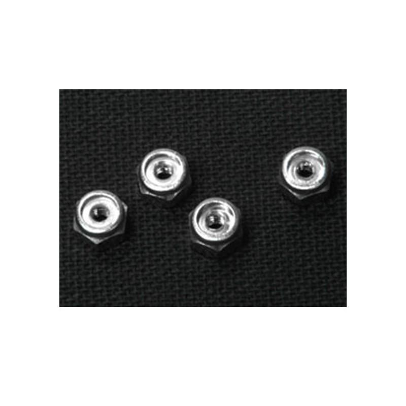 Ecrou de roue en alu M2 (4) Silver Atomic