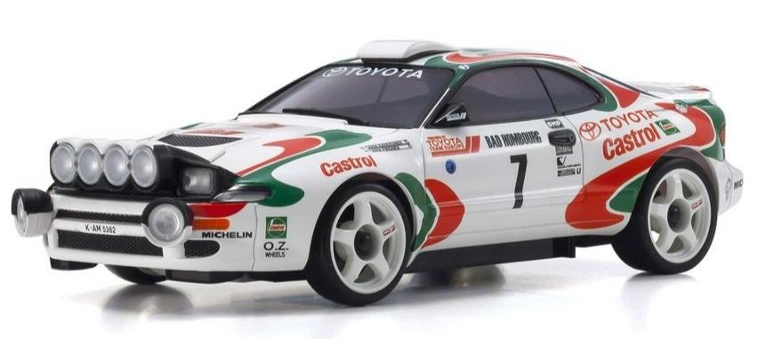 KYOSHO ASC MA020AWD Toyota CELICA TURBO 4WD No.7 WRC 1993 Juha Kankkunen, MZP446JK