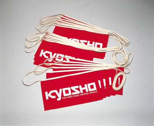 KYOSHO BANDEROLLE  X10 (DRAPEAUX SUR CORDE), 4109