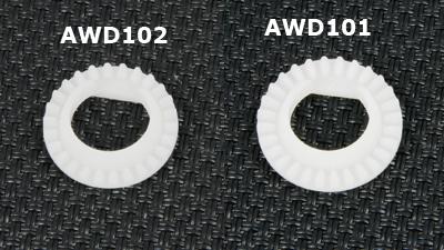 ATOMIC Couronne de roue libre AWD en delrin (26T), AWD102
