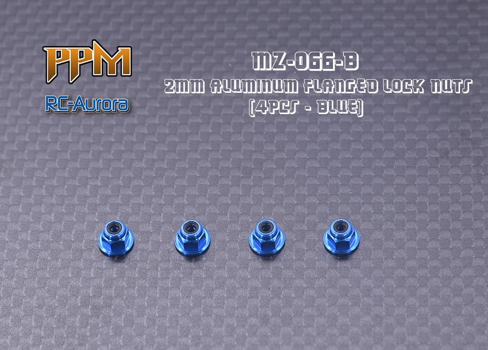 RC AURORA Écrous de roue Bleu spécial Mini-Z, MZ-066-B