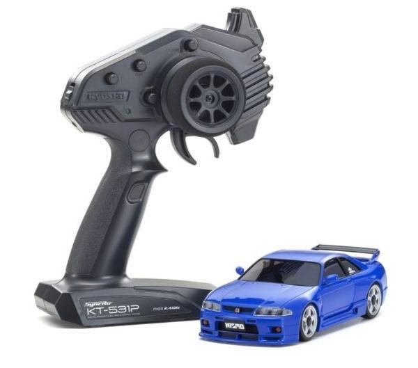 KYOSHO MINI-Z AWD NISSAN SKYLINE GT-R NISMO(R33) Blue Readyset t (MA-020/KT531P), 32616BL