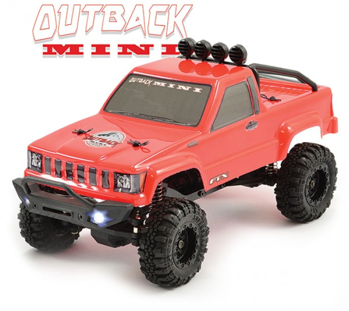 FTX OUTBACK MINI 1:24 TRAIL READY-TO-RUN RED With Lipo, FTX5502R-L