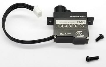 GL RACING Servo de direction pignon Titane, GL-0820-TG