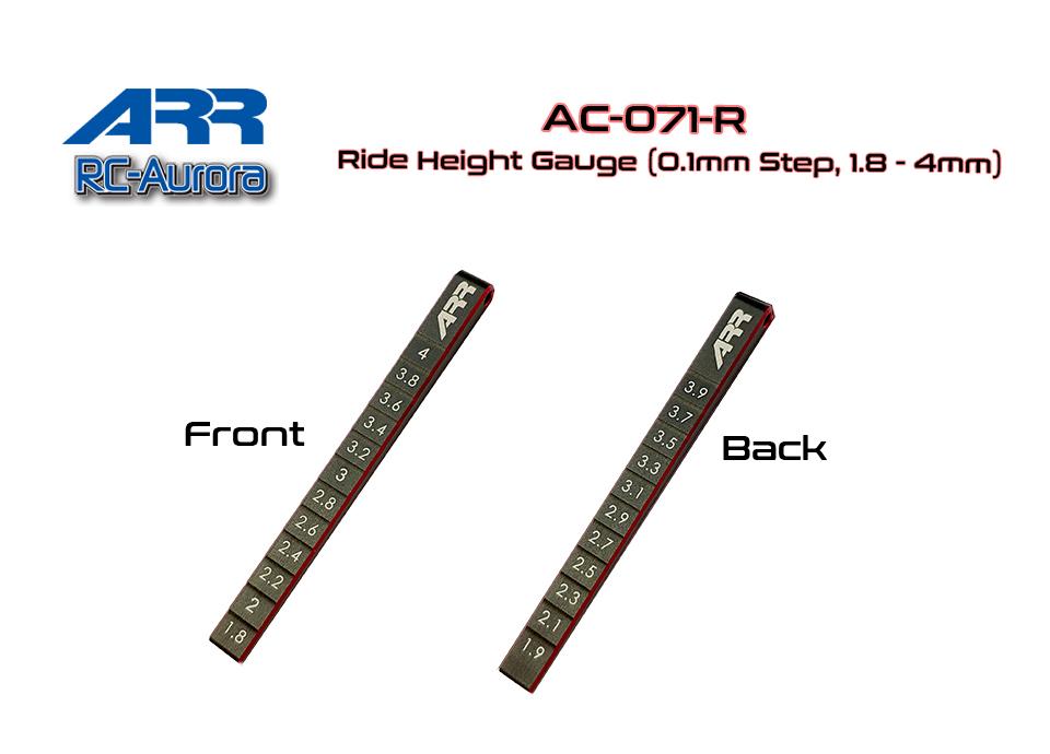 RC AURORA Cale de réglage de hauteur chassi Miniz, AC-071-R