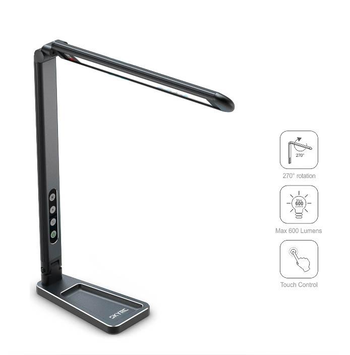 ROBITRONIC Lampe de stand Noire à LED, SK600089BK