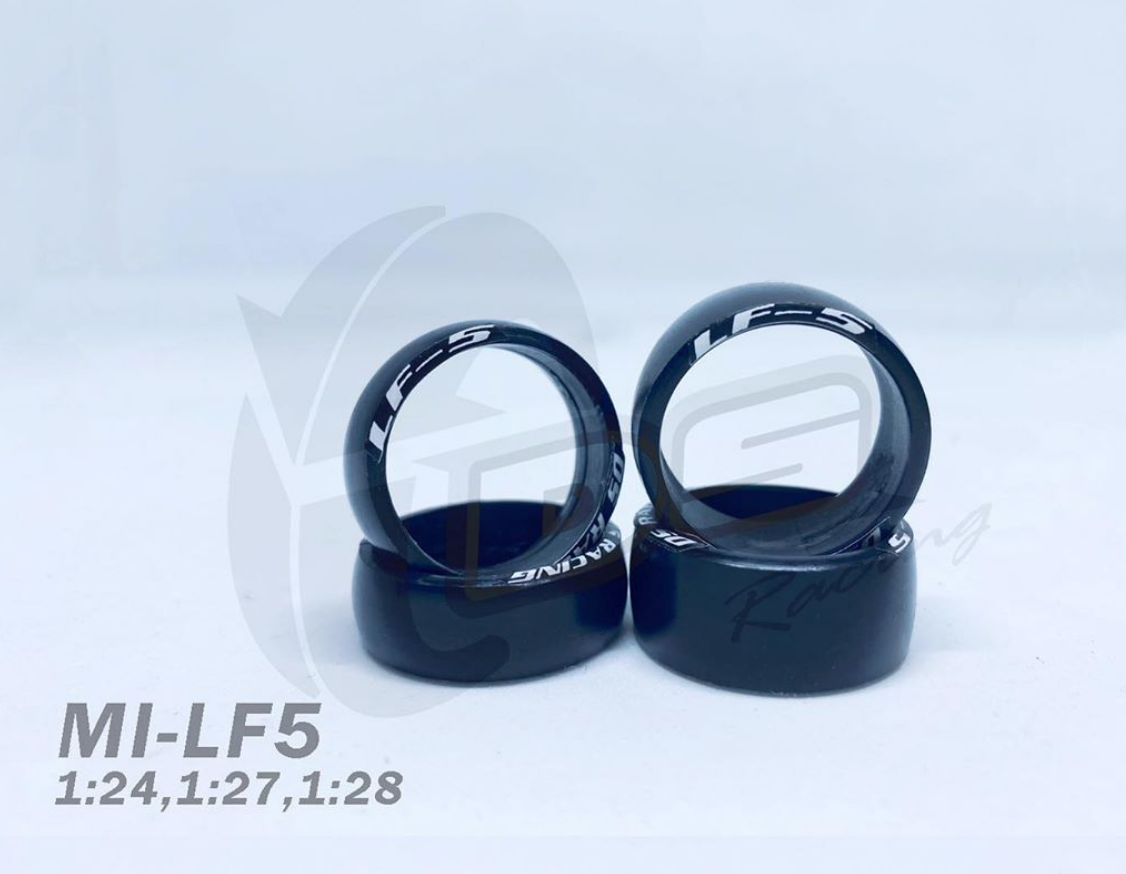DS Racing Pneus Drift miniz LF5 11mm Wide (4pcs), LF5-11