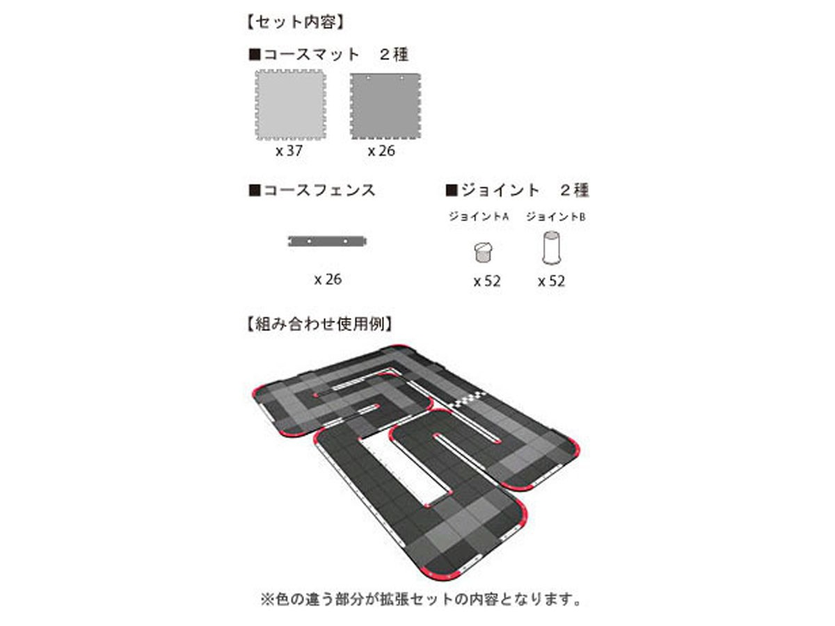 Kyosho Mini-Z Grand Prix Circuit 30 EXTENSION (60pcs), 87031-01