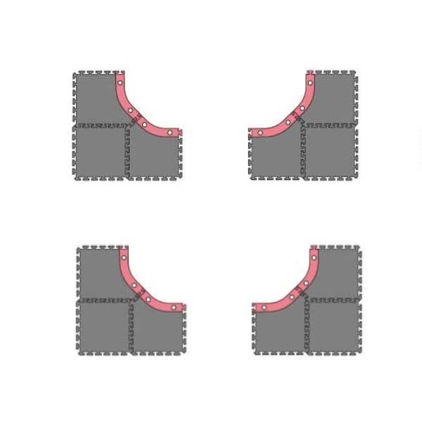 Kyosho Mini-Z Grand Prix Circuit 30 ANGLES LARGES (12pcs), 87031-02