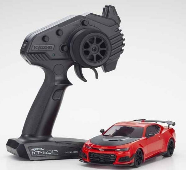 KYOSHO Mini-Z RWD CHEVROLET CAMARO ZL1 1LE RED HOT (W-MM/KT531P) - LED, 32339R