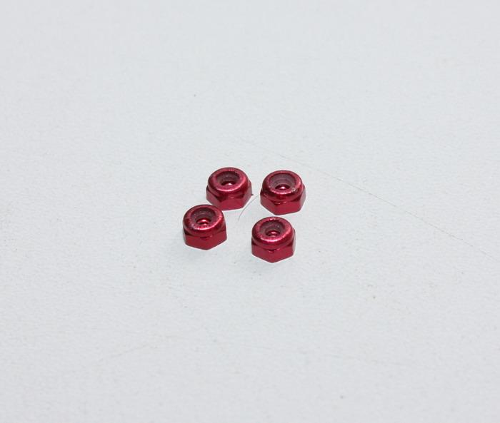 Ecrous de roues en alu rouge Mini Z PN Racing