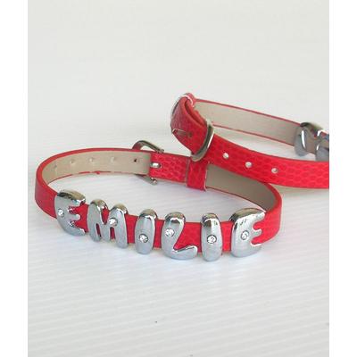 Bracelet avec insert lettre