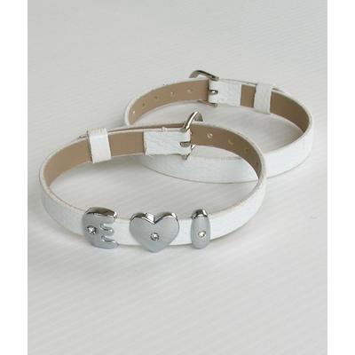 Bracelet blanc personnalise