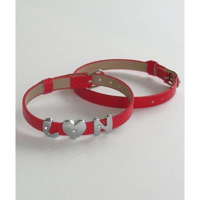 Bracelet rouge insert lettre
