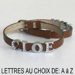 Bracelet lettre alphabet prénom