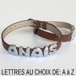 Bracelet lettre alphabet