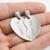 Pendentif coeur sécable duo