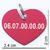 coeur rouge ebay verso