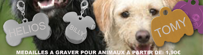 Médaille à graver pour animaux à partir de 1,90€