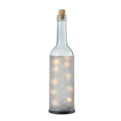 BOUTEILLE LED TRANSPARENTE DECORATIVE FONCTIONNANT  A PILES