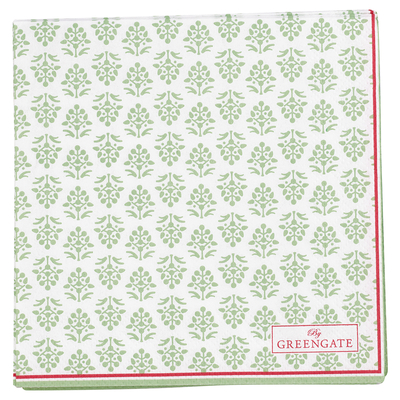 SERVIETTES PAPIER ASHLEY GREEN 20 PIECES