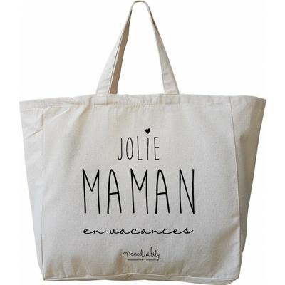 SAC TOTE BAG GEANT JOLIE MAMAN EN VACANCES