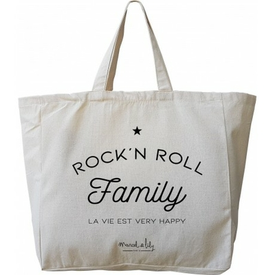 SAC TOTE BAG GEANT ROCK AND ROLL FAMILY