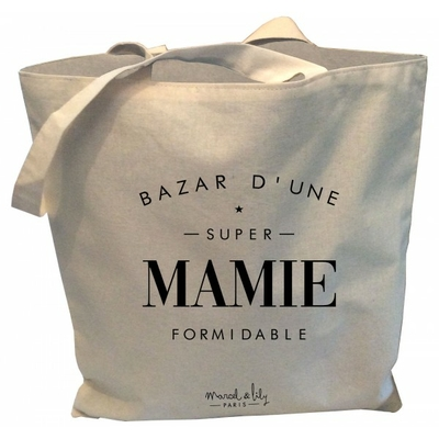 SAC TOTE BAG BAZAR D'UNE SUPER MAMIE FORMIDABLE