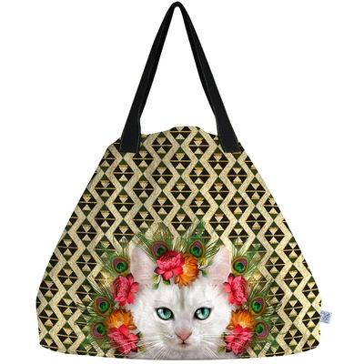SAC TOTE BAG GEANT CHAT NOUCHKA