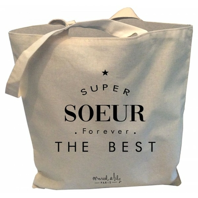 SAC TOTE BAG SUPER SOEUR FOR EVER THE BEST