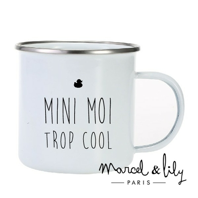 TASSE EMAILLEE MINI MOI TROP COOL