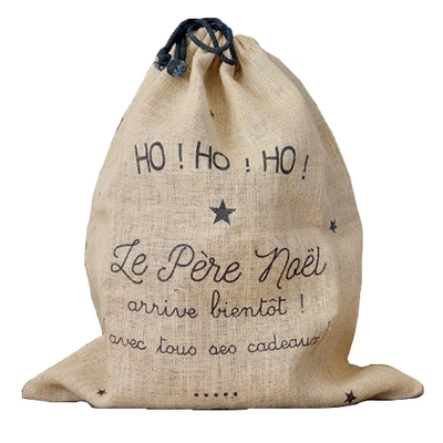 BALUCHON TOILE DE JUTE OH OH OH PERE NOEL
