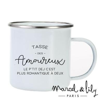 TASSE EMAILLEE DES AMOUREUX