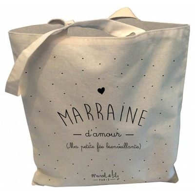 SAC TOTE BAG MARRAINE D'AMOUR
